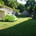Zelte oben